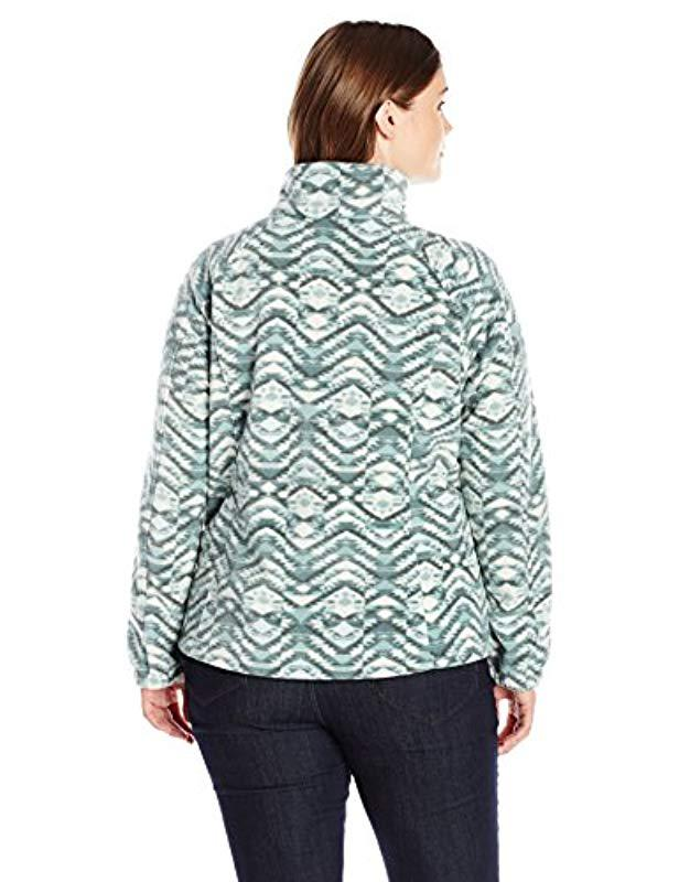 42993a8a456 Lyst - Columbia Plus Size Benton Springs Print Full Zip Jacket in Green -  Save 11.111111111111114%
