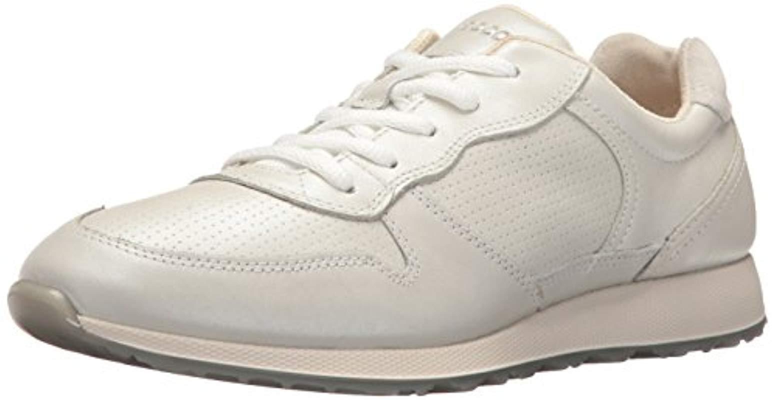 2a3f9b6e08bc Lyst - Ecco Sneak Retro Tie Fashion Sneaker in White - Save 20%