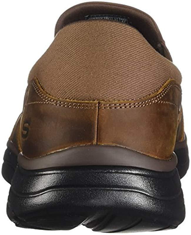 00a54a1cfb97 Lyst - Skechers Relaxed Fit Glides Calculous in Brown for Men - Save 1%