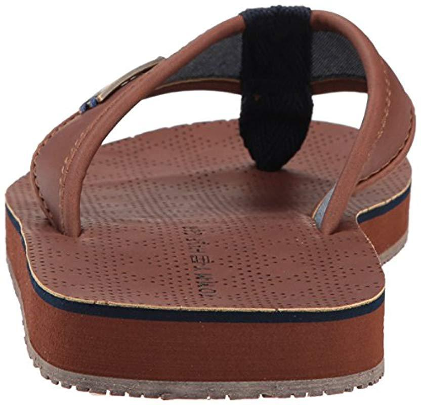 7a8df1e64dd6a1 Lyst - Tommy Hilfiger Draft Sandal in Brown for Men - Save 2.5%