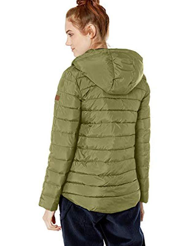 Lyst - Roxy Rock Peak Water Repellent Jacket in Green 6911b9f2756