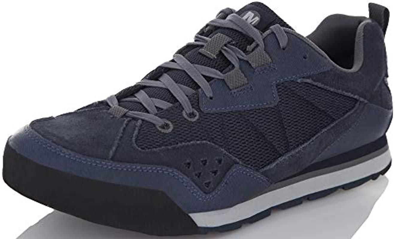 b70294f313bcd Merrell Burnt Rock Fashion Sneaker (7.5 D(m) Us, Navy) in Blue for ...