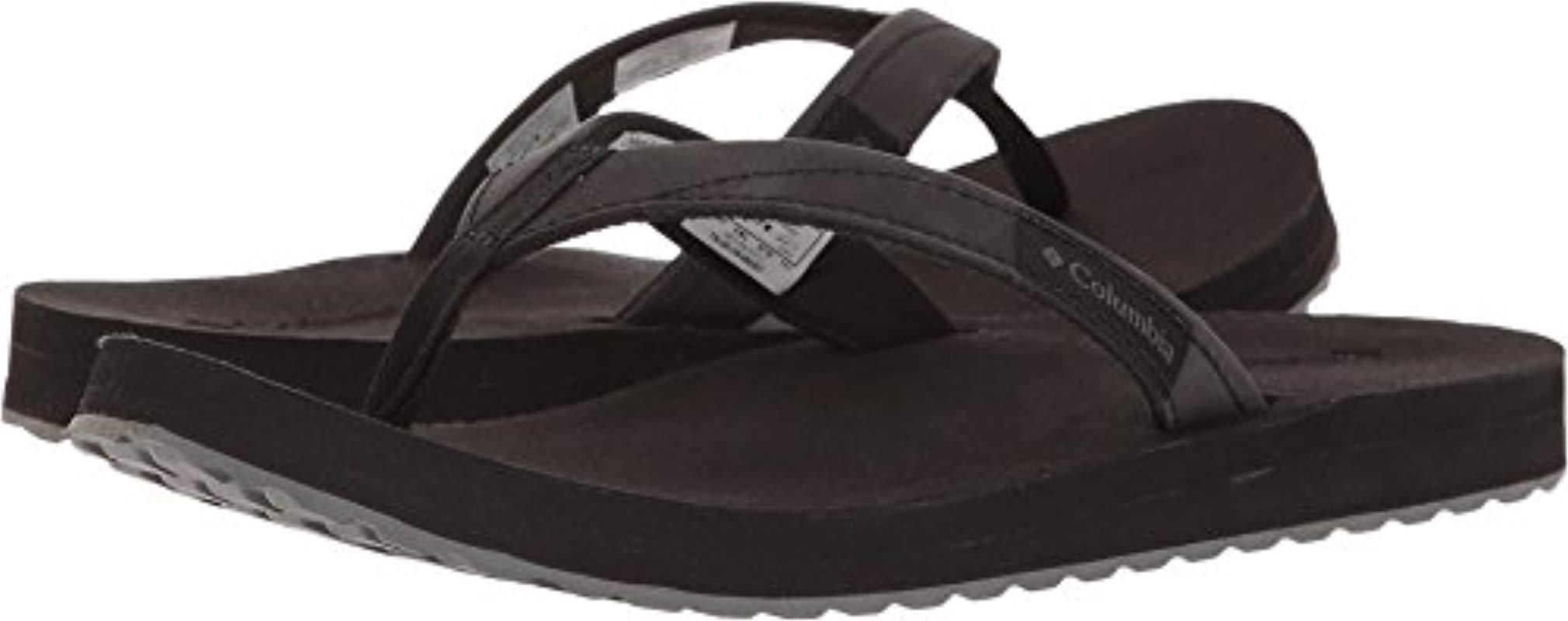 Lyst - Columbia Sorrento Leather Flip Athletic Sandal in Black - Save 7% d029b45a65