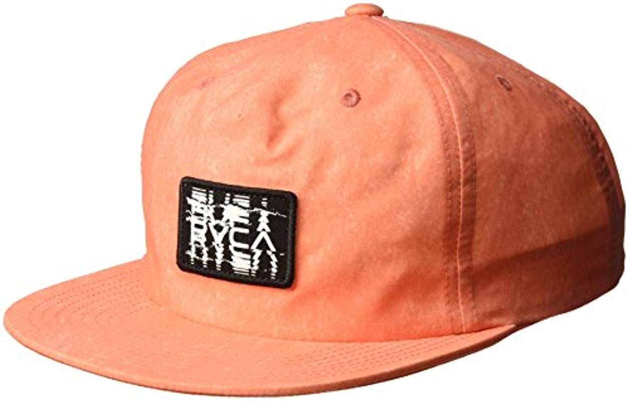 058ab2b284ec7 Lyst - RVCA Rts Unstructured Hat in Orange for Men - Save 10%