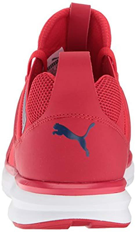 a7ac59f0740 PUMA - Red Enzo Mesh Wide Sneaker for Men - Lyst. View fullscreen