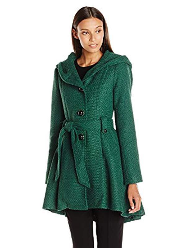 847ecbed88e Lyst - Steve Madden Single Breasted Wool Coat in Green