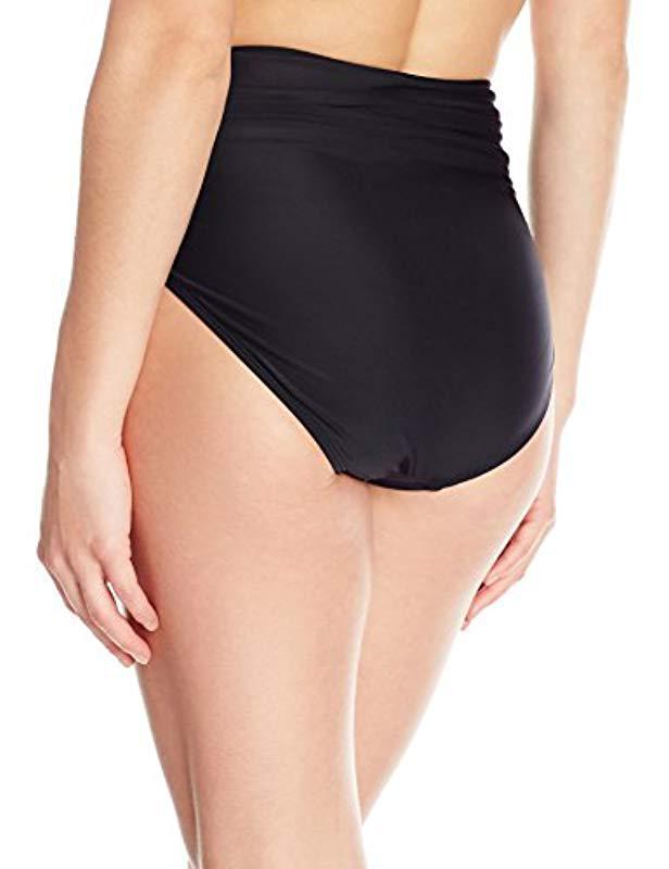 06ca586705784 Lyst - Coastal Blue Swimwear Shirred High Waist Bikini Bottom