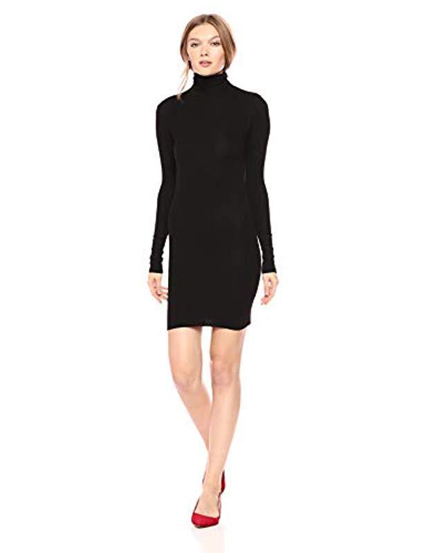 Black Turtleneck Mini Dress