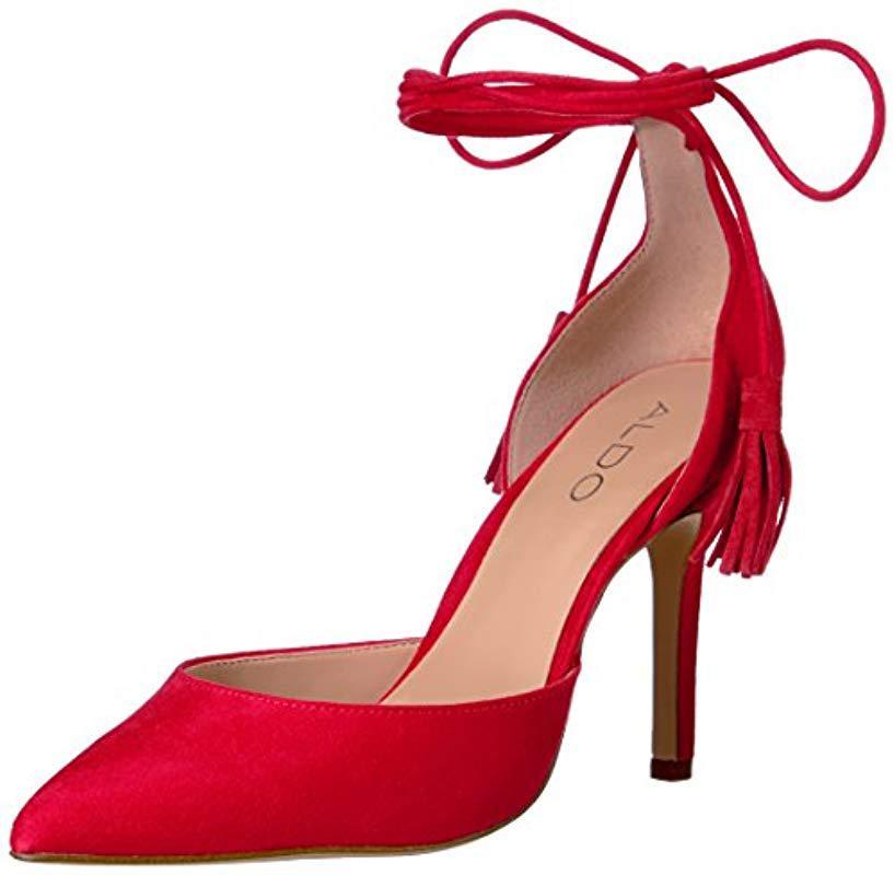 4b646c3d9a1b ALDO - Red Celallan Dress Pump - Lyst. View fullscreen