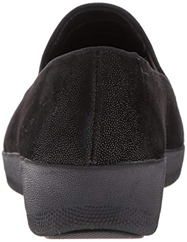 9d9f7f57645f Lyst - Fitflop Tassel Superskate Shimmer Loafer in Black - Save 13%