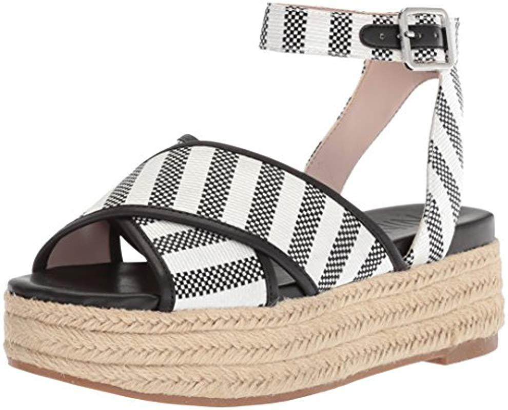 0ac754114831 Lyst - Nine West Showrunner Fabric Sandal in Black - Save 13%