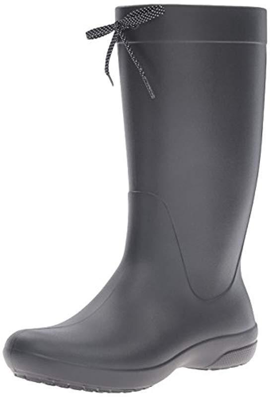 9bf63f94d1af53 Lyst - Crocs™ Wellies Freesail Rain Boot Wellington Boots in Black ...