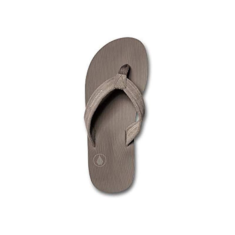 dd534a863f72 Volcom - Brown Driftin Suede Strap Leather Flip Flop Sandal for Men - Lyst.  View fullscreen