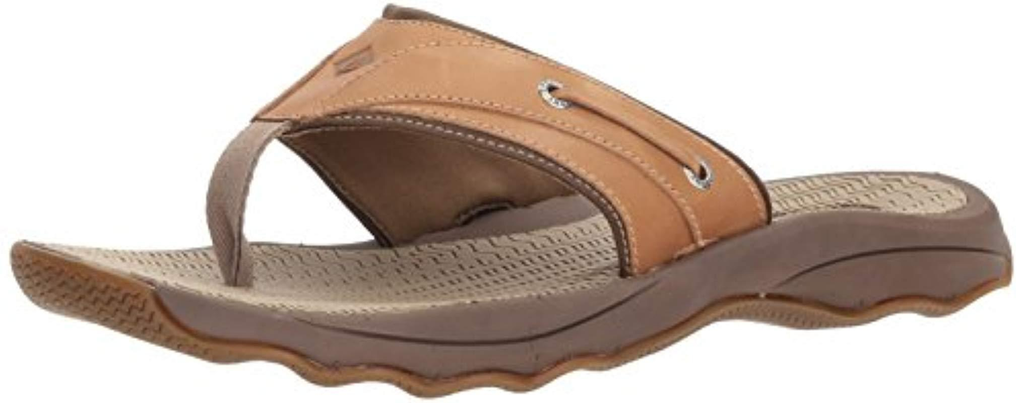 35a1fedc0d8 Lyst - Sperry Top-Sider Top-sider Outer Banks Thong Sandal in Brown ...