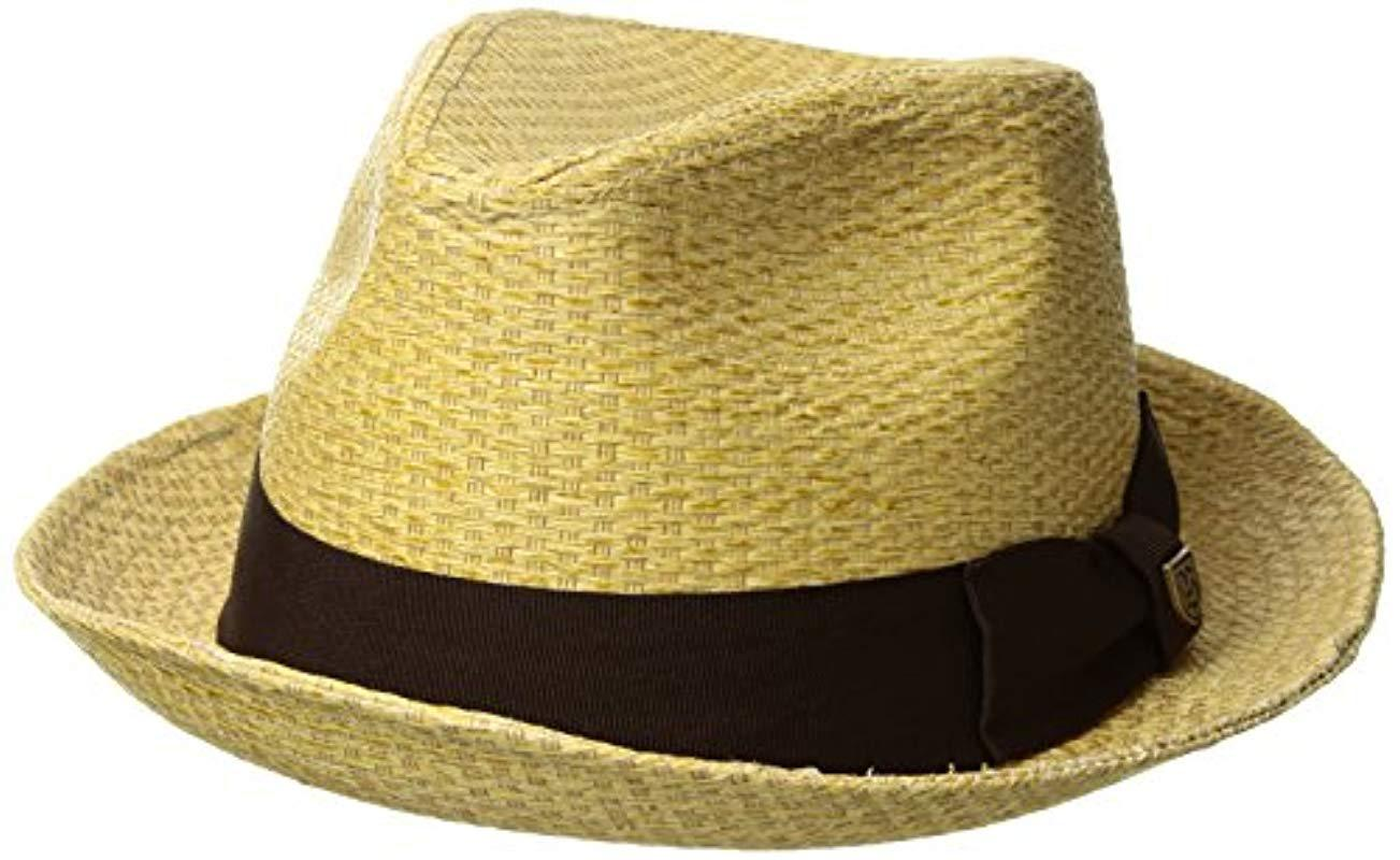 ed1e08f74ee Lyst - Brixton Castor (tan Stripe) Traditional Hats for Men - Save 31%
