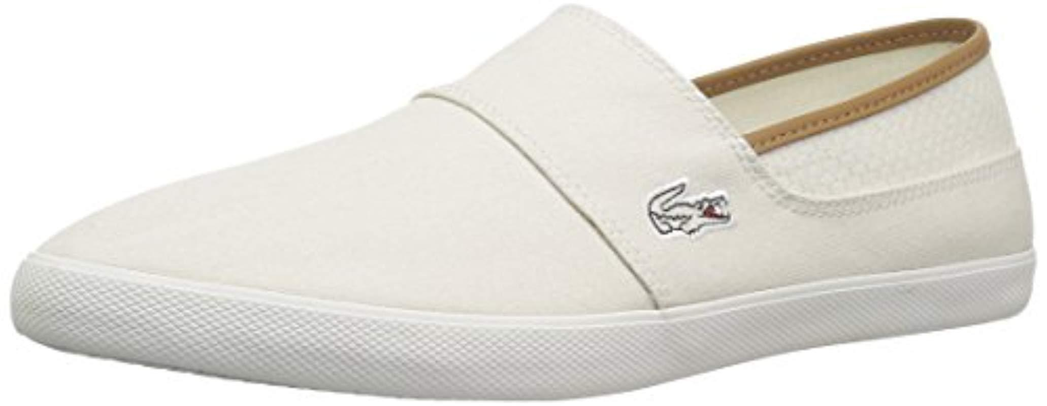 42755bdf0a3b3 Lyst - Lacoste  s Marice Slip-ons in White for Men - Save ...