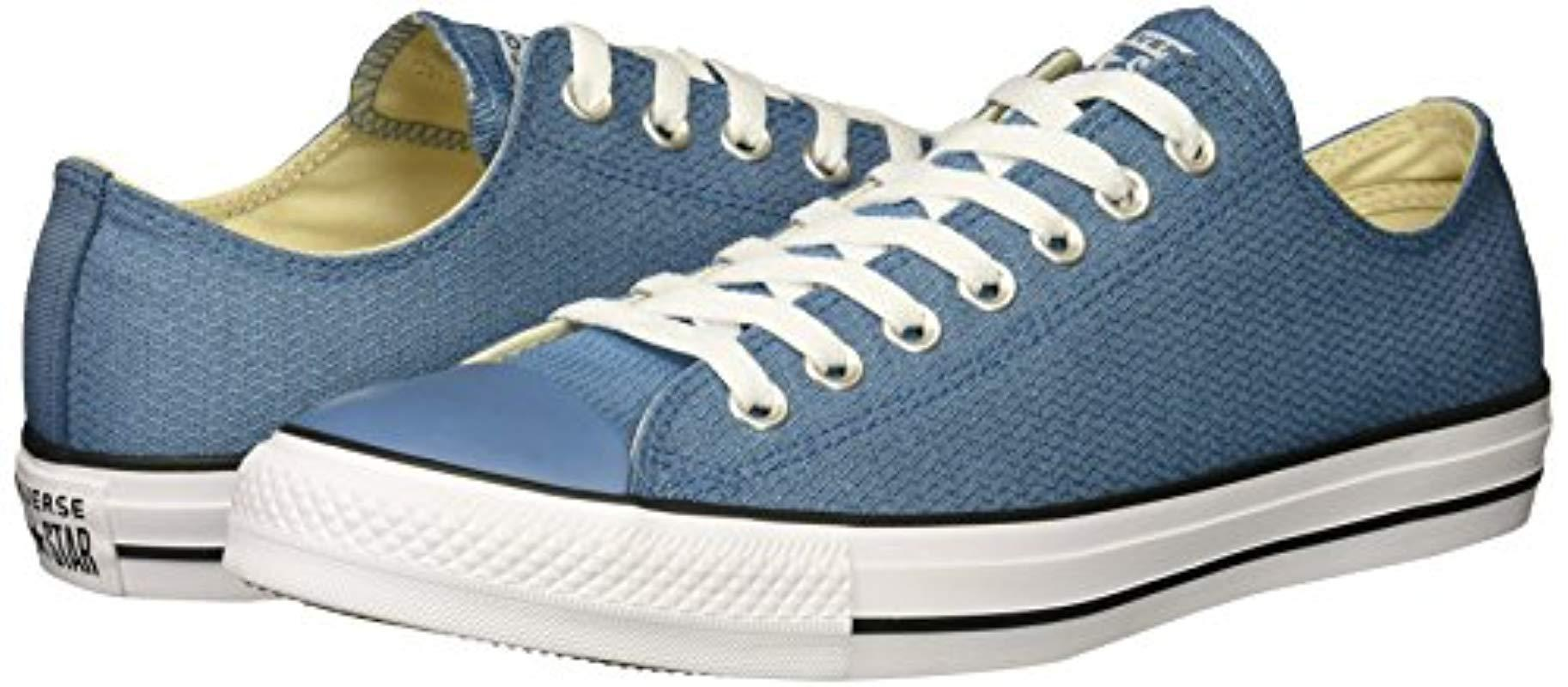 cc795380d980 Lyst - Converse Chuck Taylor All Star Basketweave Low Top Sneaker in Blue  for Men - Save 18%