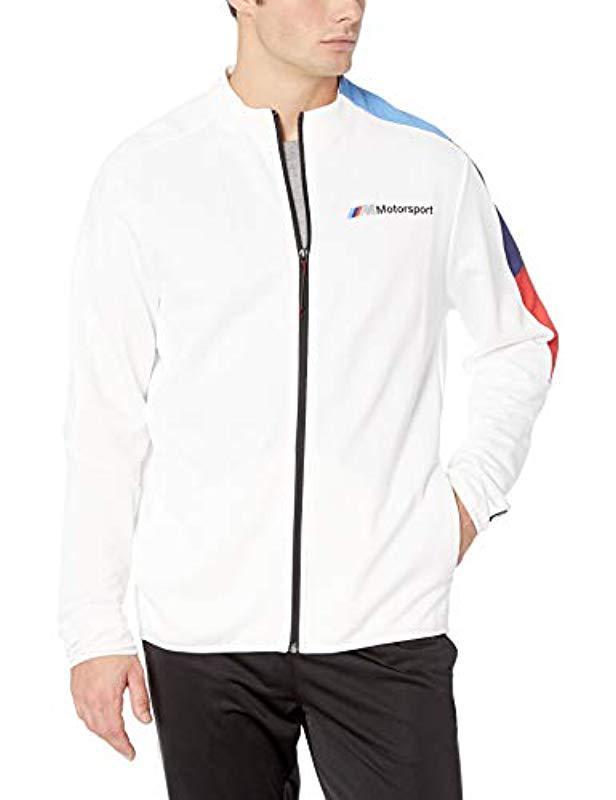 a7ef81b4d595 Lyst - PUMA Bmw Motorsport Mms T7 Track Jacket in White for Men