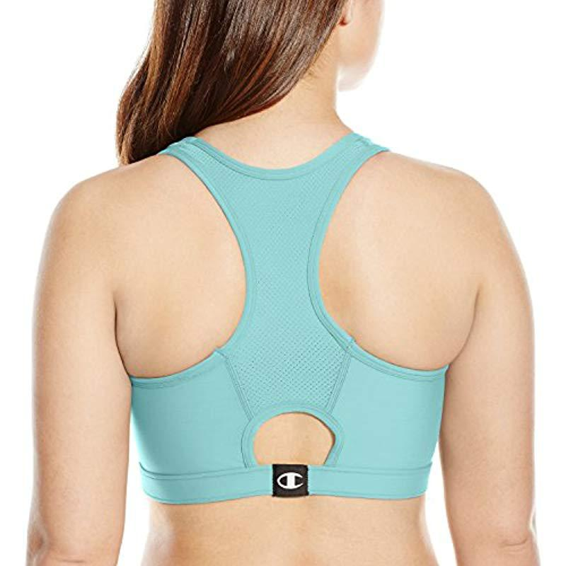 08416bf949295 Lyst - Champion Plus-size Vented Compression Sports Bra in Blue