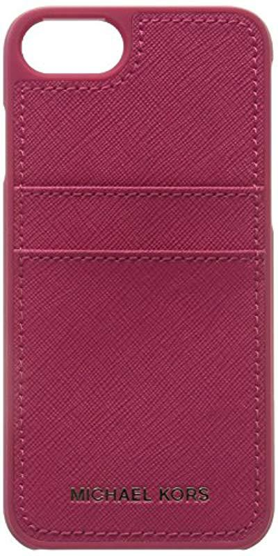 26fe001e3f96 Lyst - Michael Kors Saffiano Leather Phone Case For Iphone7 8 - Save 12%