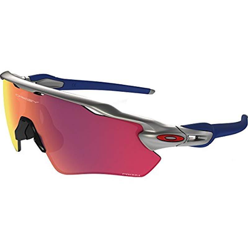 9027e7bcffc Oakley. Men s Metallic Radar Ev Path Non-polarized Iridium Rectangular  Sunglasses ...