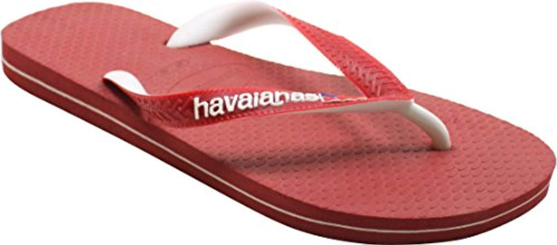 703745162440f Lyst - Havaianas Usa Logo Navy Blue Flip Flop in Red