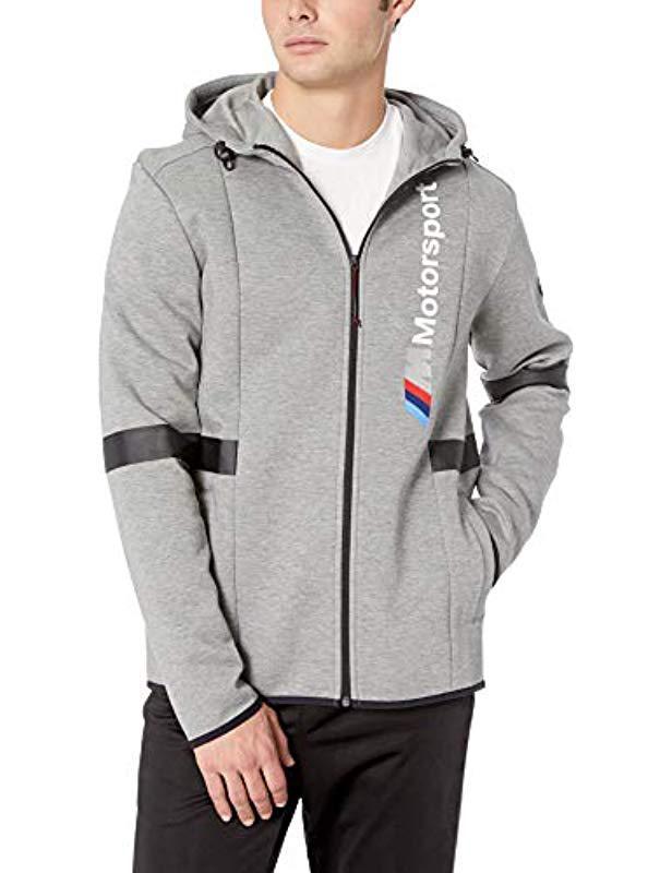 38baa1c3e33 Lyst - PUMA Bmw Motorsport Hooded Sweat Jacket in Gray for Men ...
