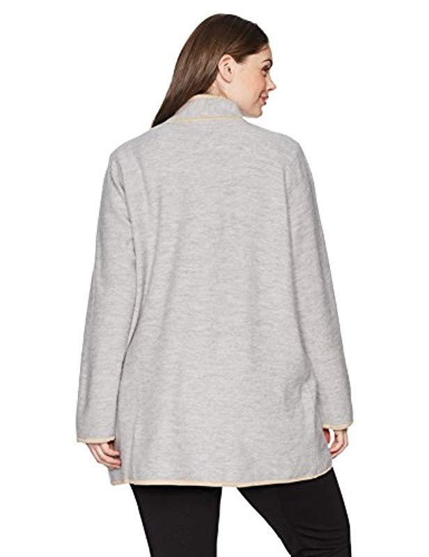 12bcd82be29 Lyst - Calvin Klein Plus Size Long Boil Wool Jackt in Gray - Save 14%