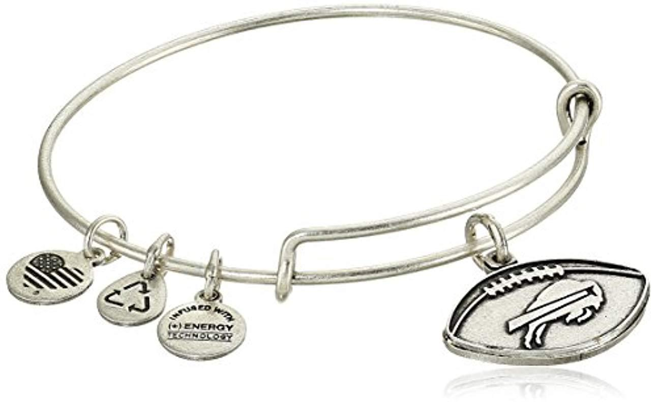 5ad0eeea090 Lyst - ALEX AND ANI Buffalo Bills Football Expandable Bangle ...