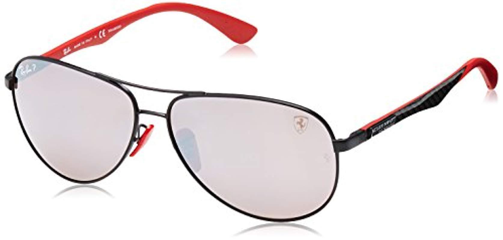 6d168217b2c Ray-Ban. Men s Black Rb8313m Scuderia Ferrari Collection Polarized  Sunglasses