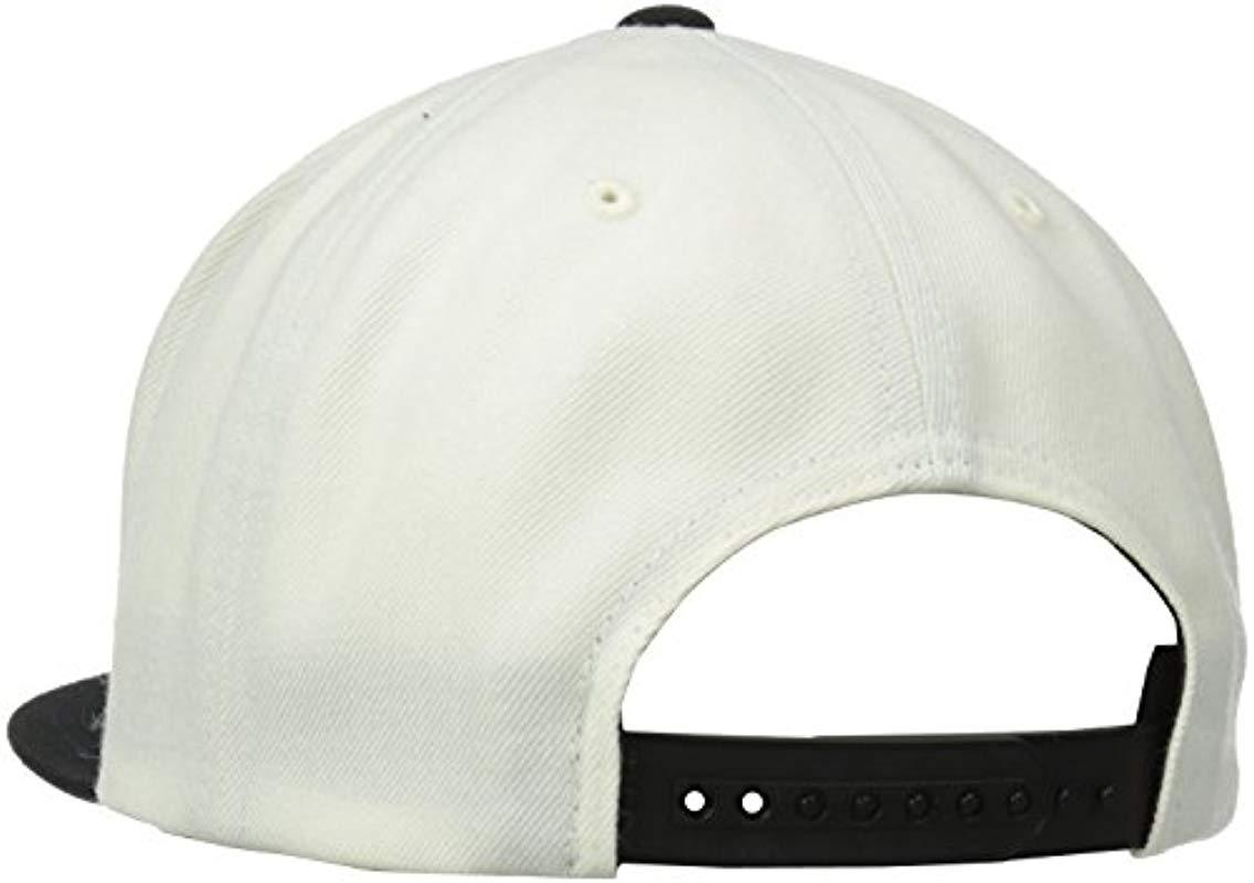 a54b93963b3be Brixton - White Oath Iii Medium Profile Adjustable Snapback Hat for Men -  Lyst. View fullscreen