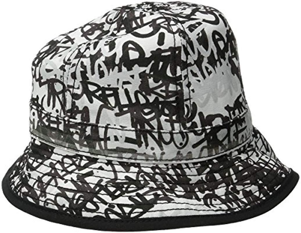 True Religion - Black Graffiti Print Bucket Hat for Men - Lyst. View  fullscreen 47edf6e06e32