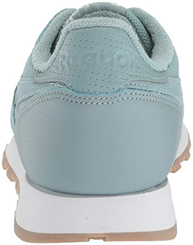 e298857cb38 Lyst - Reebok Classic Leather Sneaker in Blue for Men - Save 55%
