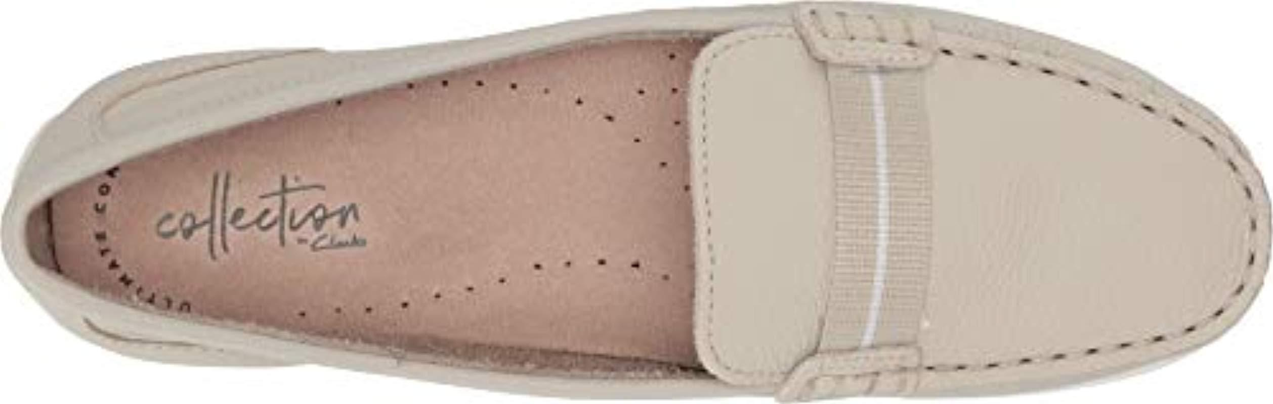 349bc3fa524 Clarks - White Dameo Vine Driving Style Loafer - Lyst. View fullscreen