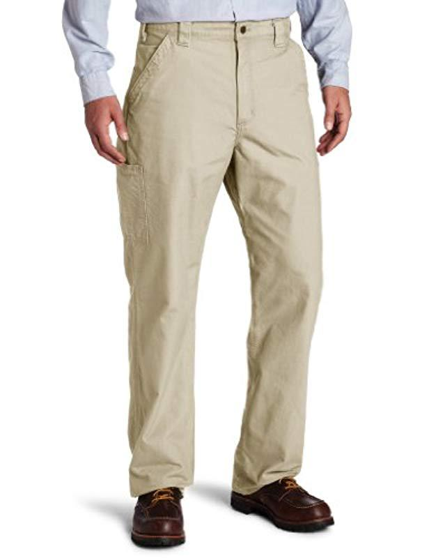 a6c43bc43794 Lyst - Carhartt Canvas Work Dungaree Pant B151 in Natural for Men