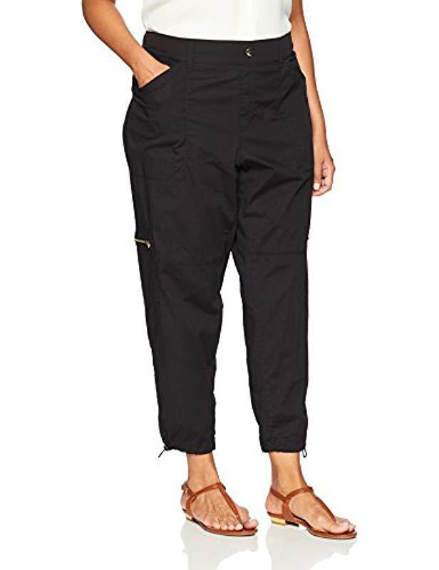 bb6d0b51307 Lyst - Rafaella Ripstop Ankle Cargo Pant in Black - Save 14%