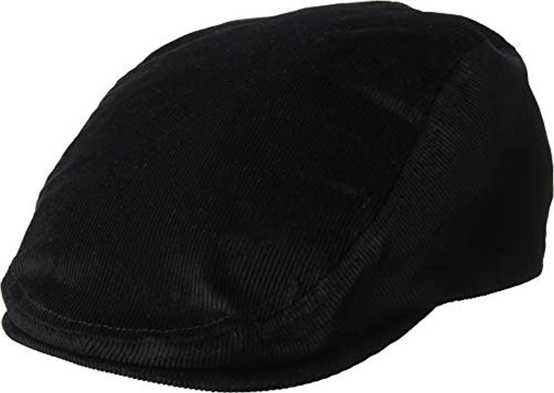 36bbd0cc5de424 Lyst - Kangol Cord Flat Ivy Cap Hat in Black for Men - Save 30%