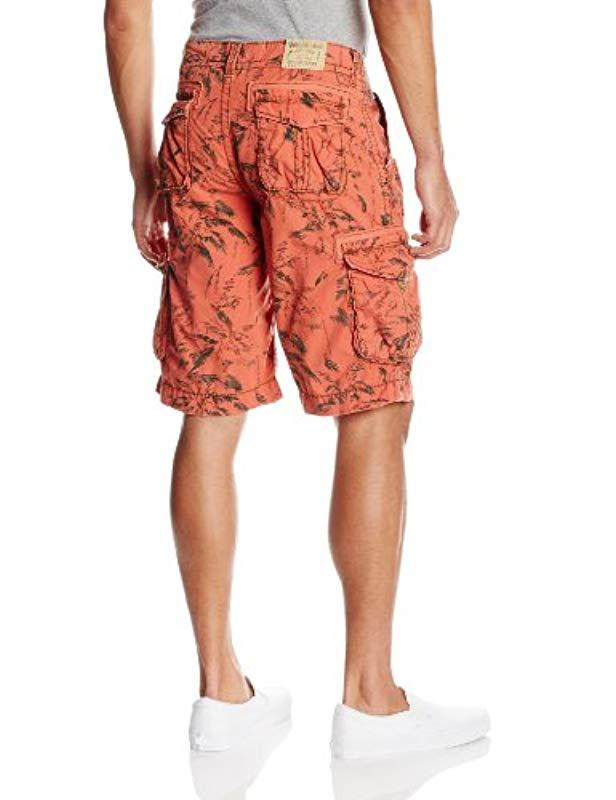 ada8c7a9a0 True Religion Expedition Big-t Palm-printed Cargo Short In Coral in ...