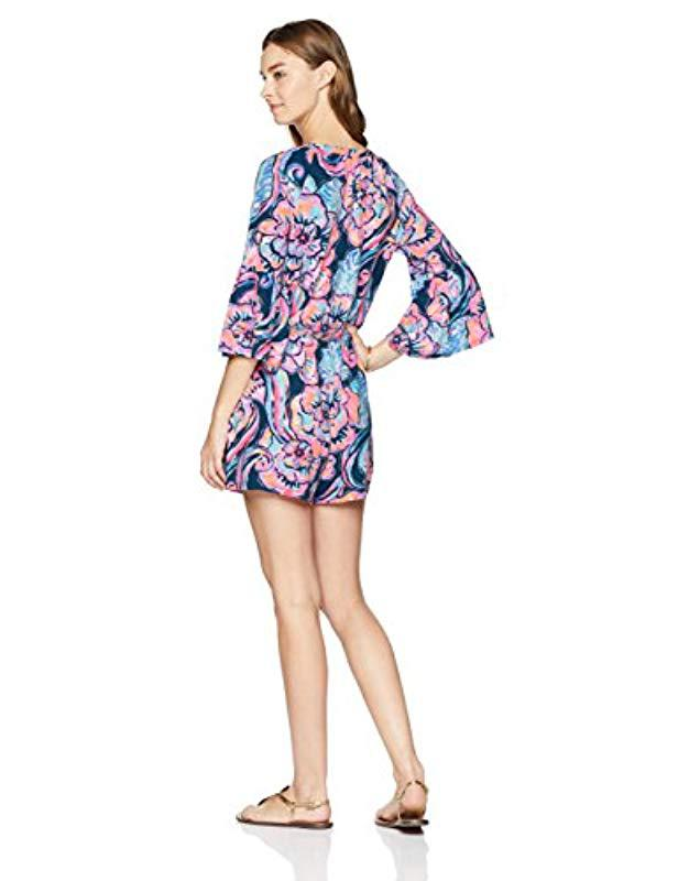 5ac5ea8a425 Lyst - Lilly Pulitzer Del Lago Romper in Blue - Save 9%