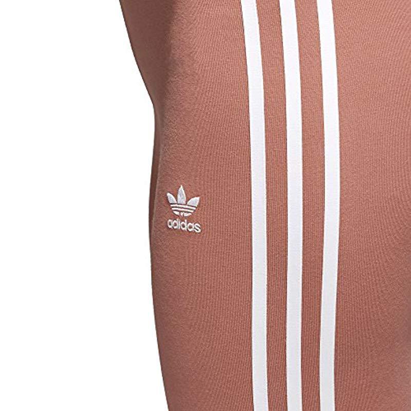 a2e646d76811d Lyst - adidas Originals 3-stripes Leggings, Ash Pink, Medium in Pink