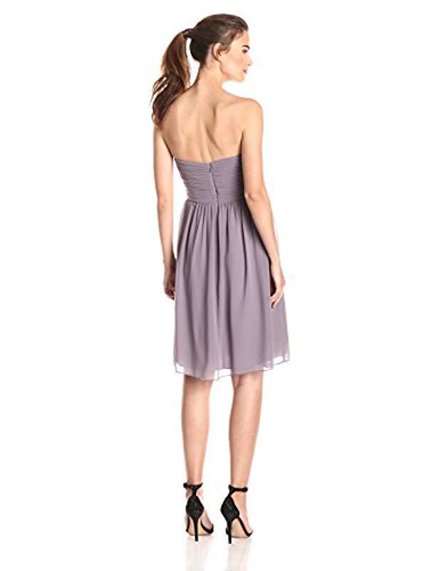 ce7ea18c547cc Lyst - Donna Morgan Sarah Short Strapless Sweatheart Neckline Dress in  Purple - Save 67%