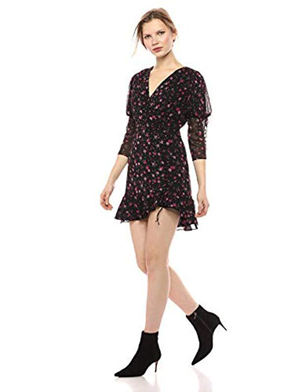 057821f167 Lyst - For Love   Lemons Rosie Button Mini Dress in Black