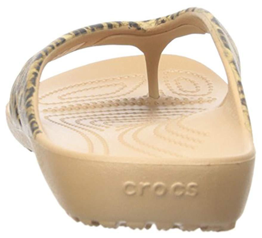 8d3dda27f Crocs™ - Metallic Kadee Ii Leopard Print Flip-flop - Lyst. View fullscreen