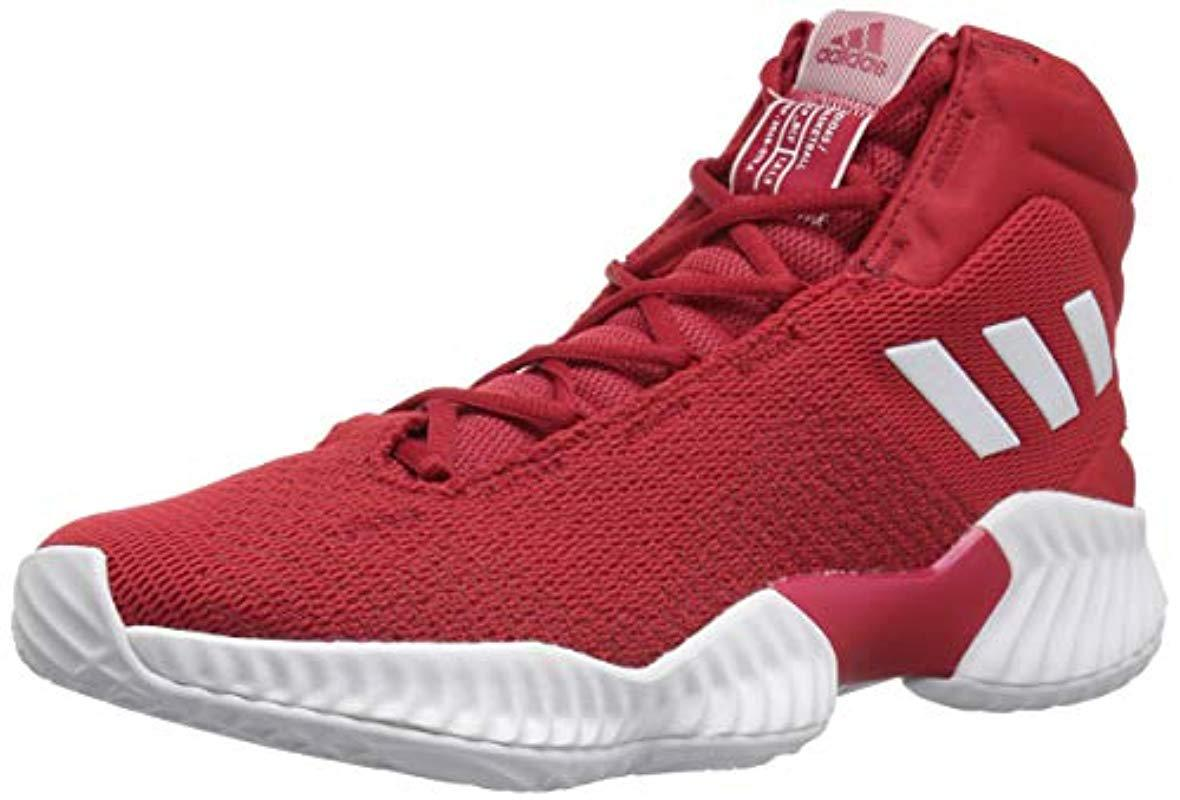 ced80bece59 adidas Originals Pro Bounce 2018 Basketball Shoe in Red for Men ...