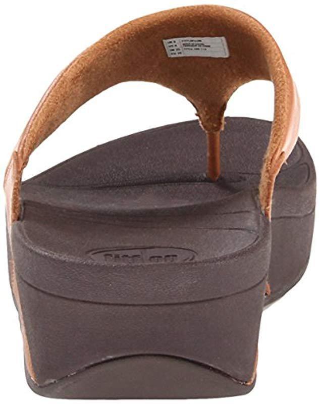 0de73b4deff3 Lyst - Fitflop Lulu Thong Sandal in Brown - Save 5%