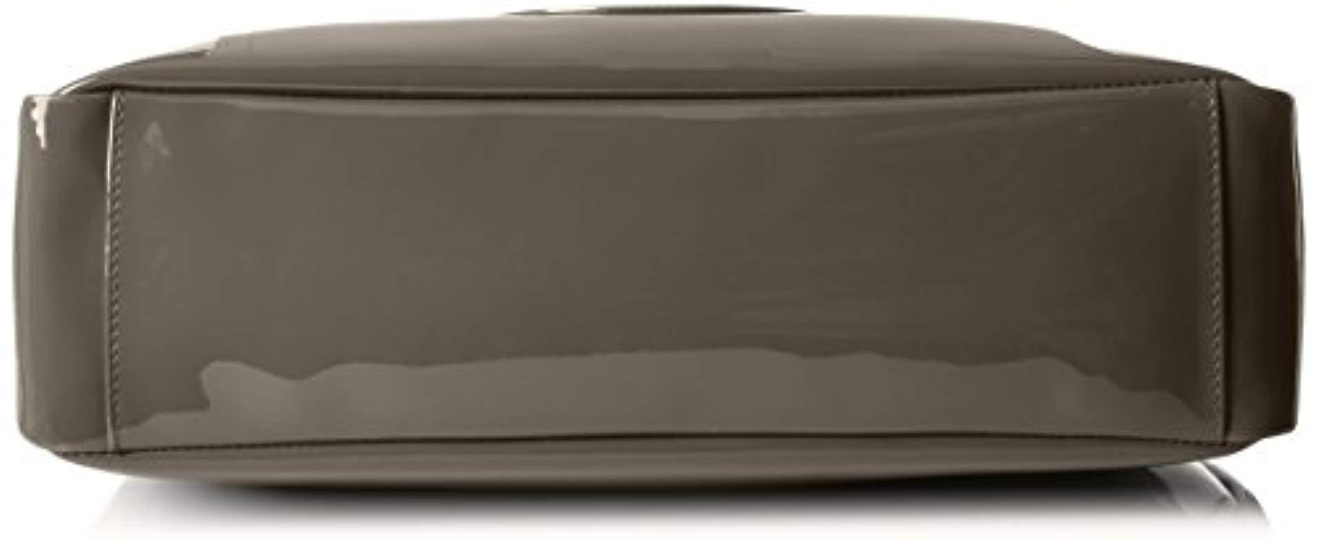 Lyst - Armani Jeans Eco Patent Leather East West Logo Tote for Men 38e83c0e17fcf