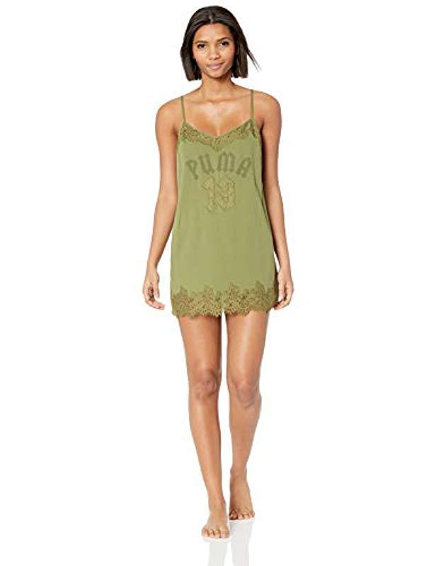 7d0c90572b7b Lyst - PUMA Fenty Lace Trim Sleepwear Teddy in Green