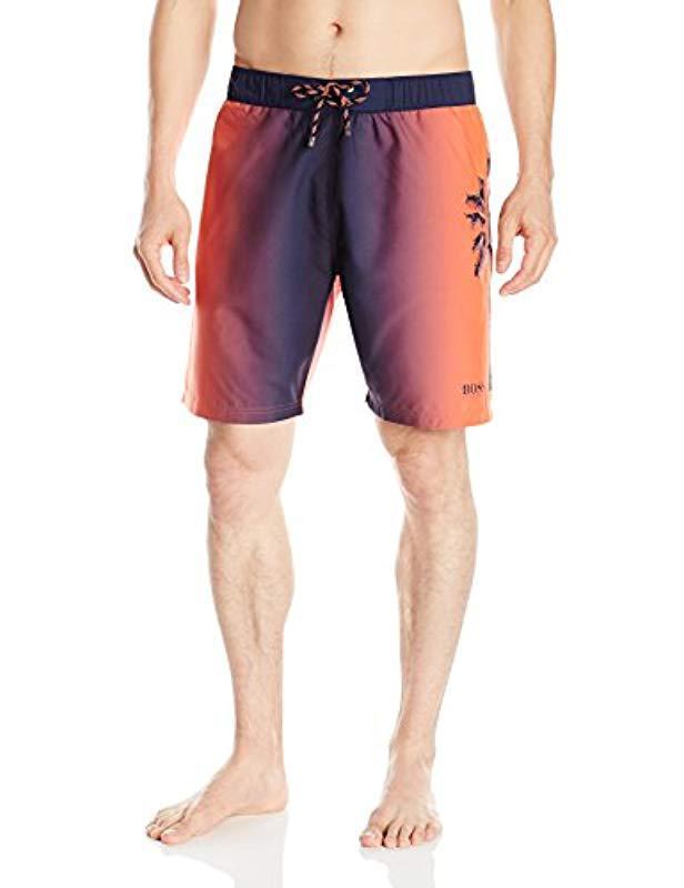 fa34dee1d Lyst - BOSS Boss Orinoco Swim Short in Orange for Men