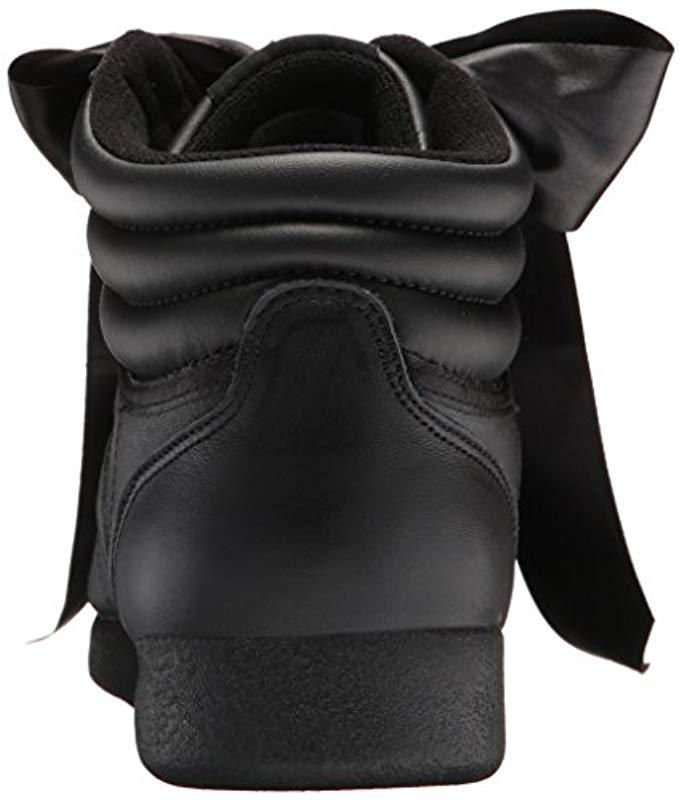 d2e28600f66bb Women's Black F/s Hi Satin Bow Sneaker