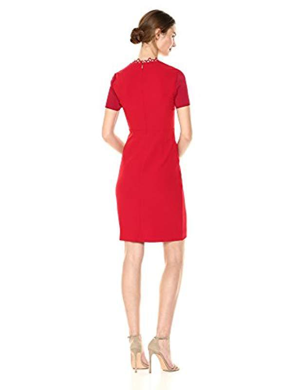 d7138f34cf5a Lyst - Elie Tahari Saylah Dress in Red - Save 62.562814070351756%
